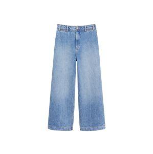 MANGO Kalhoty se sklady v pase  kobaltová modř