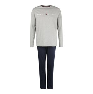 Tommy Hilfiger Underwear Pyžamo dlouhé  tmavě modrá / šedá / bílá / červená