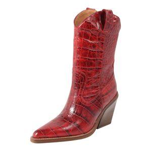 BRONX Kovbojské boty 'NEW-KOLE'  tmavě červená