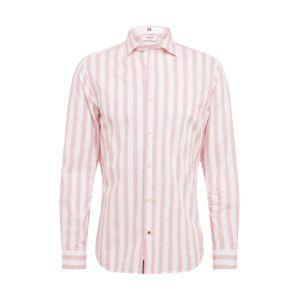 JACK & JONES Košile 'BLAPOX'  bílá / světle růžová