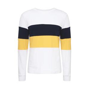 River Island Tričko  bílá / žlutá / námořnická modř