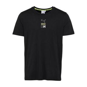 PUMA Tričko 'Helly Hansen'  černá / světle zelená / šedá