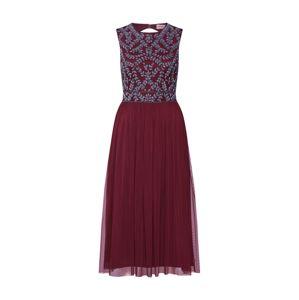 LACE & BEADS Koktejlové šaty 'Casablanca'  burgundská červeň