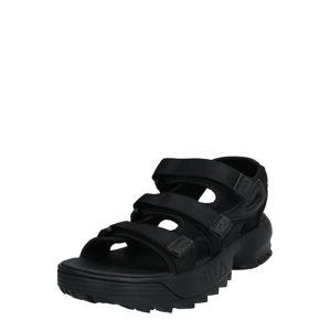 FILA Trekingové sandály  černá