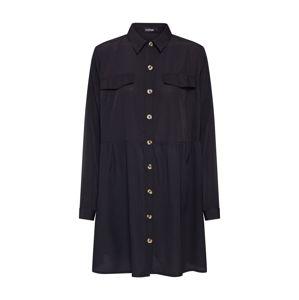 Boohoo Košilové šaty  černá