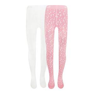 EWERS Punčocháče  bílá / růžová