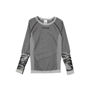 Hummel Sportovní mikina 'MAX'  šedá / černá / bílá