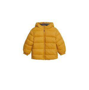 MANGO KIDS Zimní bunda  hořčicová