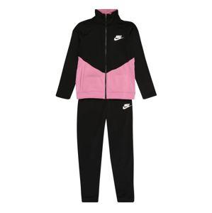 Nike Sportswear Joggingová souprava  černá / růžová