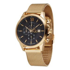 Gc Analogové hodinky 'Executive'  černá / zlatá