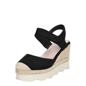 Xti Páskové sandály  písková / černá