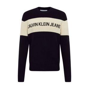 Calvin Klein Jeans Svetr  černá / bílá