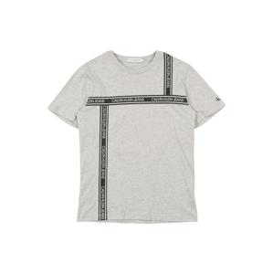 Calvin Klein Jeans Tričko  šedý melír / šedá / bílá