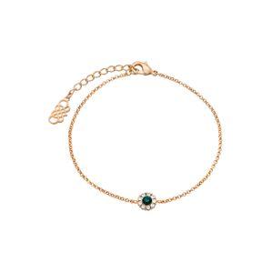 LILY AND ROSE Náramek 'Petite Miss Sofia bracelet - Emerald'  zlatá