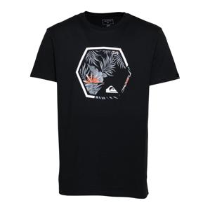 QUIKSILVER Funkční tričko 'FADING OUT'  černá / bílá / kouřově modrá / lososová