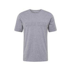 Calvin Klein Performance Funkční tričko  šedá / černá