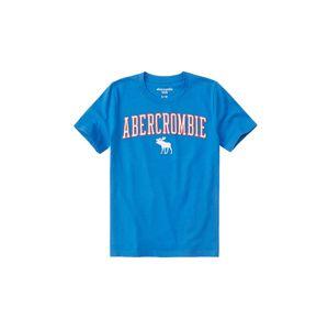 Abercrombie & Fitch Tričko 'SB19-FEB'  modrá / svítivě červená / bílá