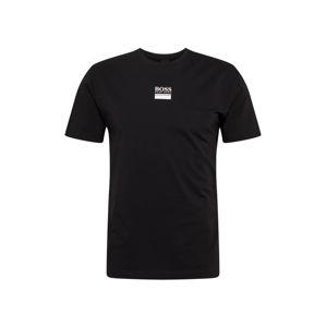 BOSS ATHLEISURE Tričko  černá / bílá