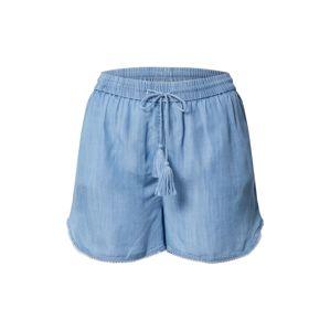 VILA Kalhoty  modrá džínovina
