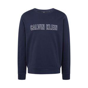 Calvin Klein Performance Sportovní mikina  námořnická modř / bílá