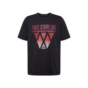 ADIDAS PERFORMANCE Funkční tričko  černá / bílá / světle červená