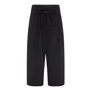 BROADWAY NYC FASHION Kalhoty se sklady v pase 'ODINA'  černá