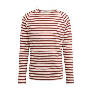 Nudie Jeans Co Tričko  bílá / červená