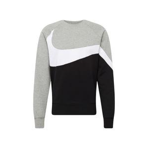 Nike Sportswear Mikina  šedá / černá / bílá