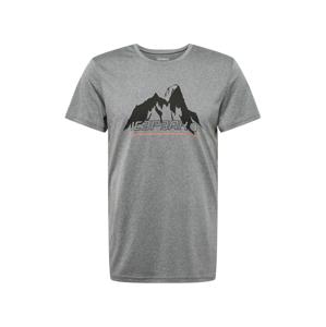 ICEPEAK Funkční tričko 'BANCROFT'  černá / šedý melír / pink