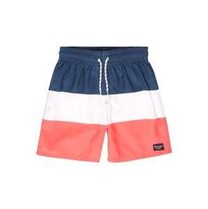 Abercrombie & Fitch Plavecké šortky  bílá / melounová / námořnická modř