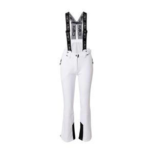 CMP Outdoorové kalhoty 'Salopette'  bílá / černá
