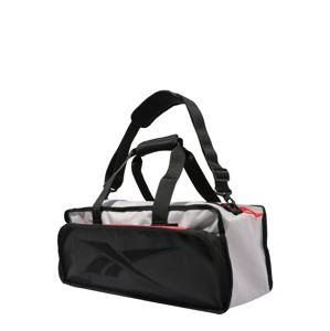 REEBOK Sportovní taška  černá / světle šedá / červená