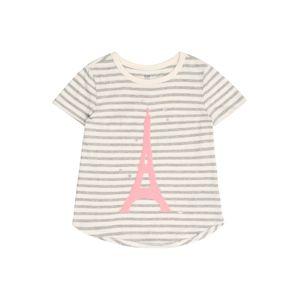 GAP Tričko  světle šedá / pink / bílá