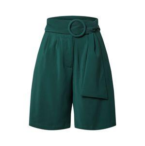 Unique21 Kalhoty se sklady v pase  tmavě zelená