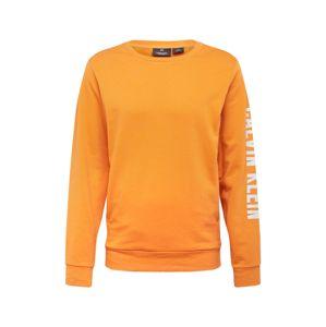 Calvin Klein Performance Sportovní mikina  oranžová / bílá