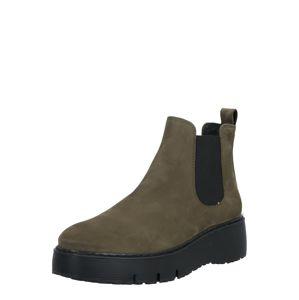 Paul Green Chelsea boty  olivová / černá