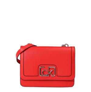 Calvin Klein Taška přes rameno  oranžově červená / stříbrná