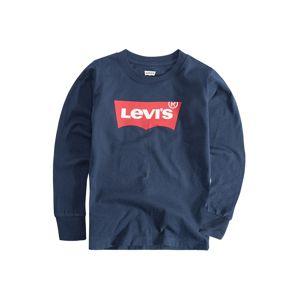 LEVI'S Mikina 'L/S Batwing Tee'  modrá / červená
