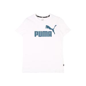 PUMA Tričko 'ESS'  bílá / námořnická modř