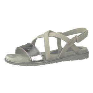 TAMARIS Páskové sandály 'Sandale mit Klettverschluss'  světle šedá / stříbrná