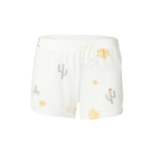 HOLLISTER Pyžamo  žlutá / mátová / šedá / bílá