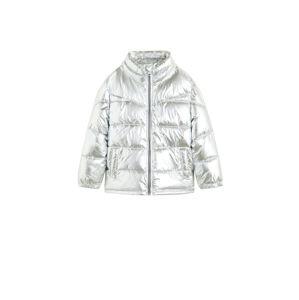 MANGO KIDS Přechodná bunda  stříbrná