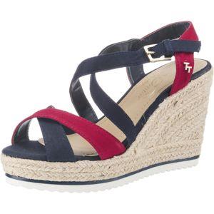 TOM TAILOR Páskové sandály  námořnická modř / ohnivá červená