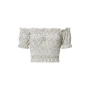 Gina Tricot Tričko 'Elisia'  černá / bílá