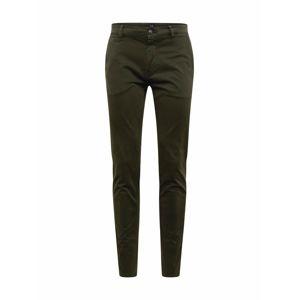 BOSS Chino kalhoty 'Schino-Slim D'  tmavě zelená