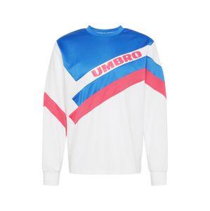 UMBRO Mikina 'SECTOR'  modrá / světle růžová / bílá