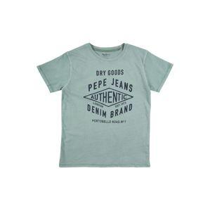 Pepe Jeans Tričko 'ROSS'  pastelově zelená / kobaltová modř