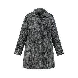 Ulla Popken Přechodný kabát  černá / bílá