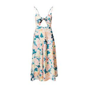 For Love & Lemons Letní šaty 'HOLIS'  zelená / broskvová / pink
