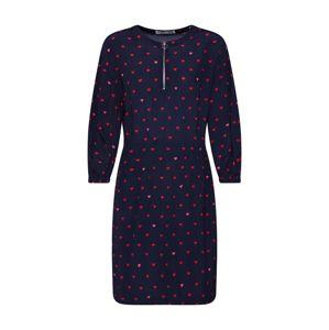 OUI Letní šaty 'Kleid'  tmavě modrá / červená